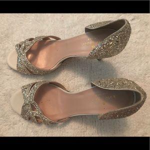 ♠️ KATE SPADE ♠️ Silver Glitter Heels